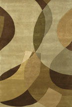 Contemporary Rugs Aadison Gold Brown