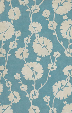 Floral Rugs Amyline Turquoise
