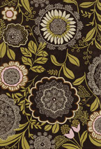 Floral Rugs Amyline Black and Green