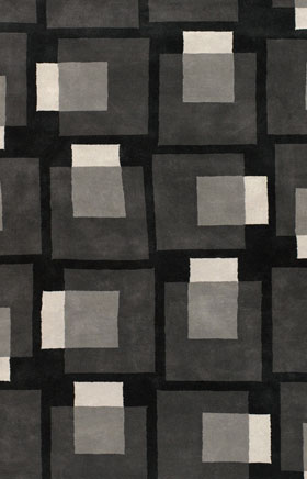 Contemporary Rugs Artesan Black and Grey
