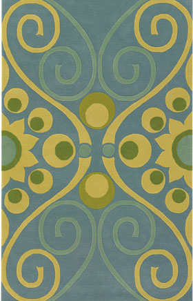 Contemporary Rugs Emmant Ivory and Gold