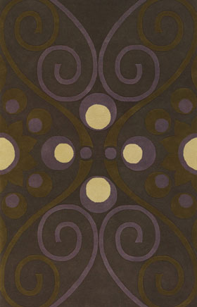 Contemporary Rugs Emmant Brown