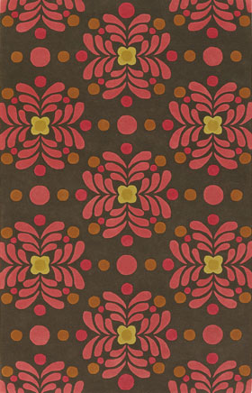 Contemporary Rugs Emmant Brown and Pink