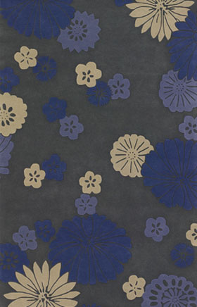 Contemporary Rugs Emmant Blue and Grey
