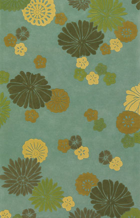 Contemporary Rugs Emmant Aqua Blue and Green