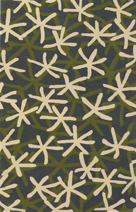 Contemporary Rugs Emmant Cream and Green