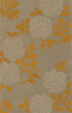 Contemporary Rugs Emmant Brown and Orange