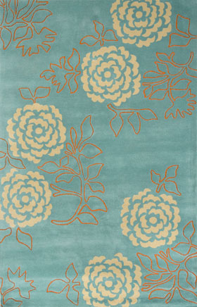 Contemporary Rugs Emmant Aqua Blue