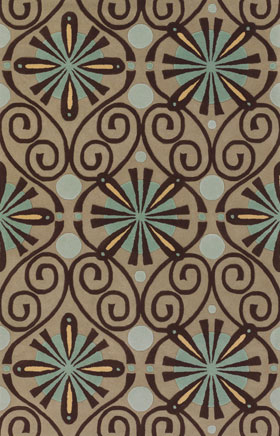 Contemporary Rugs Emmant Beige