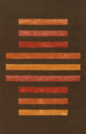 Contemporary Rugs Emmant Brown and Rusty Orange