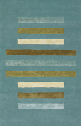 Contemporary Rugs Emmant Blue