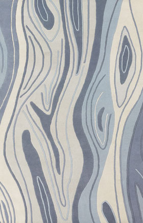 Contemporary Rugs Inhou Blue