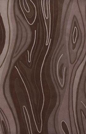 Contemporary Rugs Inhou Brown