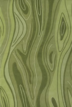 Contemporary Rugs Inhou Green