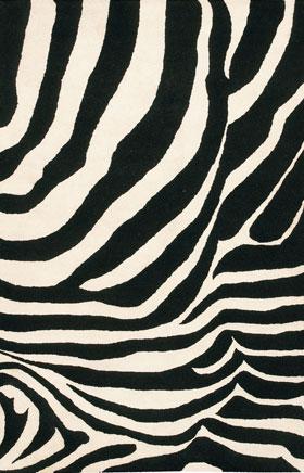 Contemporary Rugs Janttele Black