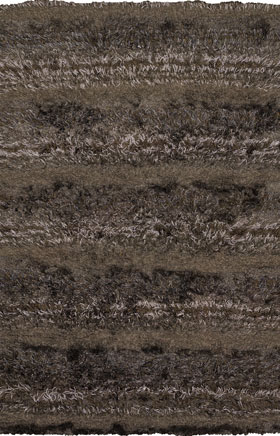 Shag Rugs Kapono Chocolate Brown