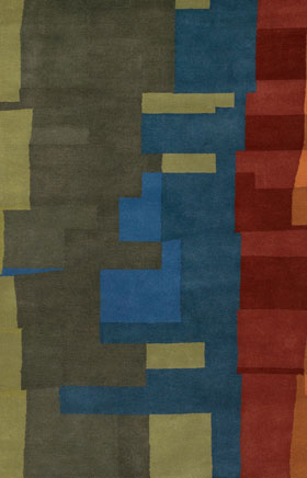 Contemporary Rugs Katiucia Red and Gold