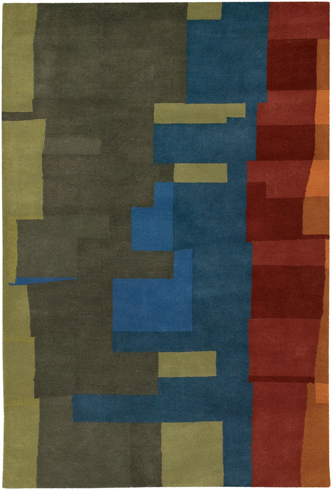 Contemporary Rugs Katiucia Red And Gold Undefined
