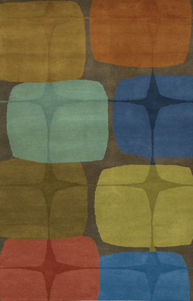 Contemporary Rugs Katiucia Blue and Brown
