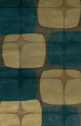 Contemporary Rugs Katiucia Gold and Blue