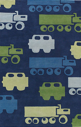 Kids Rugs Kidd Blue and Green