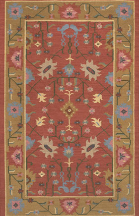 Southwestern Rugs Killimie Pink and Yellow