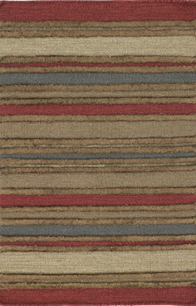 Southwestern Rugs Killimie Red and Biege