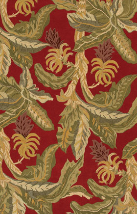 Contemporary Rugs Metopolitan Red and Green