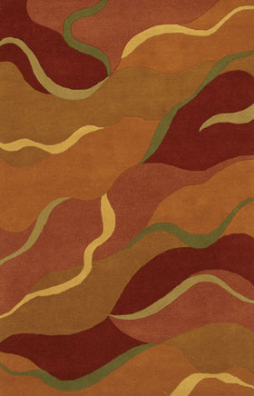 Contemporary Rugs Metopolitan Yellow and Green