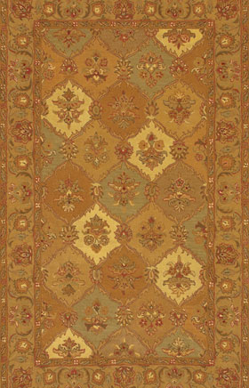 Contemporary Rugs Metopolitan Yellow and Gold