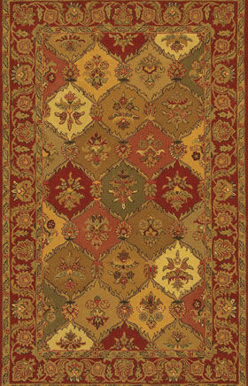 Contemporary Rugs Metopolitan Dark Red