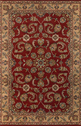 Contemporary Rugs Metopolitan Red and Light Yellow