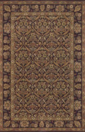 Contemporary Rugs Metopolitan Black and Brown