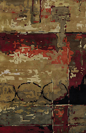 Contemporary Rugs Nircissa Brick Brown