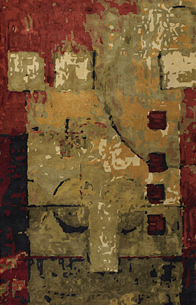 Contemporary Rugs Nircissa Brick Brown and Gold