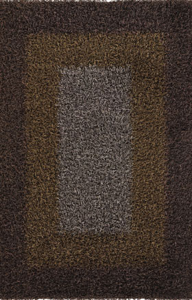 Shag Rugs Parmel Brown