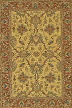 Oriental Rugs Poosa Beige and Rust