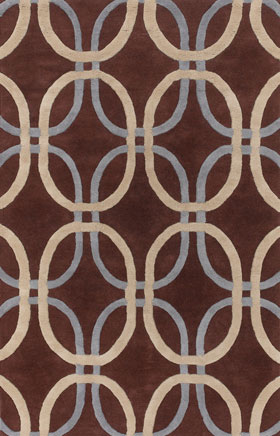 Contemporary Rugs Rowsyn Brown and Grey