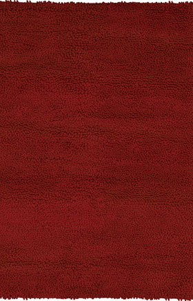 Shag Rugs Strass Dark Red