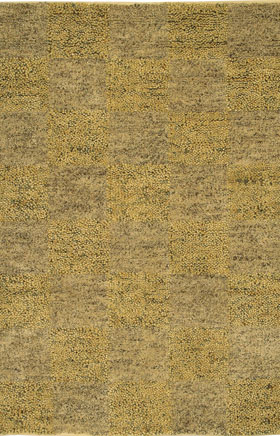 Shag Rugs Strass Gold and Green