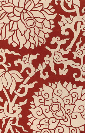 Contemporary Rugs Thompau T Red and Beige
