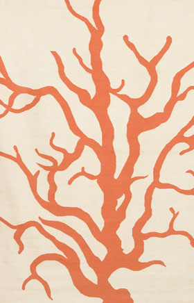 Contemporary Rugs Thompau T Ivory and Orange