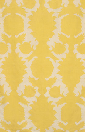 Contemporary Rugs Thompau T Yellow and Ivory