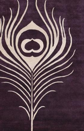 Contemporary Rugs Thompau T Purple