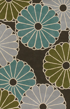 Contemporary Rugs Thompau T Grey and Blue