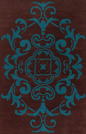 Traditional Rugs Veneto Brown and Blue