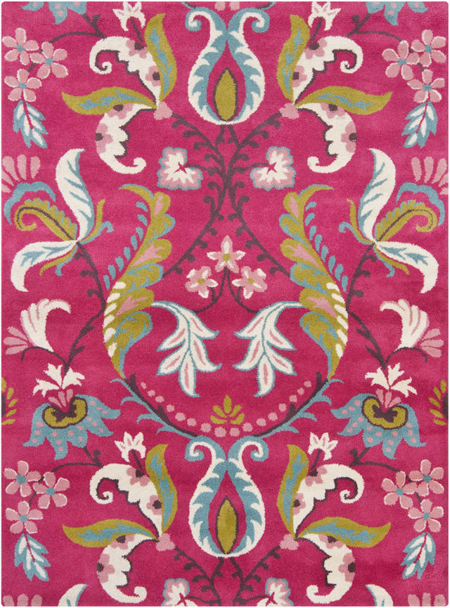 Pink Floral Rugs Hand Tufted 5 X7 Online For Sale