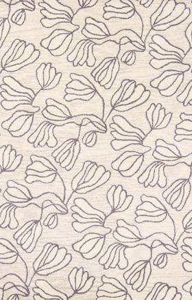 Floral rug Sahara Sands White