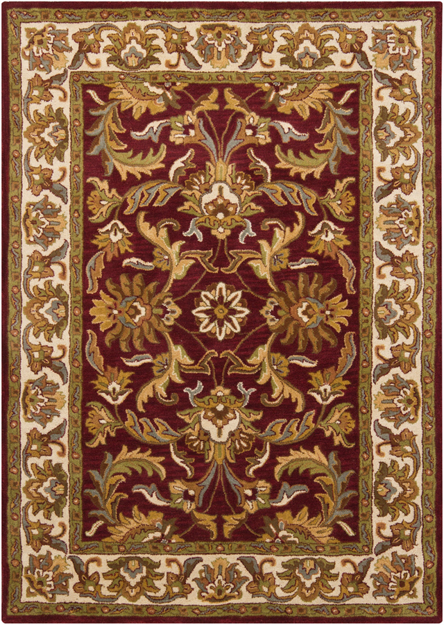 Burgundy And Beige Traditional Wool Rugs At Rugsandblinds Com