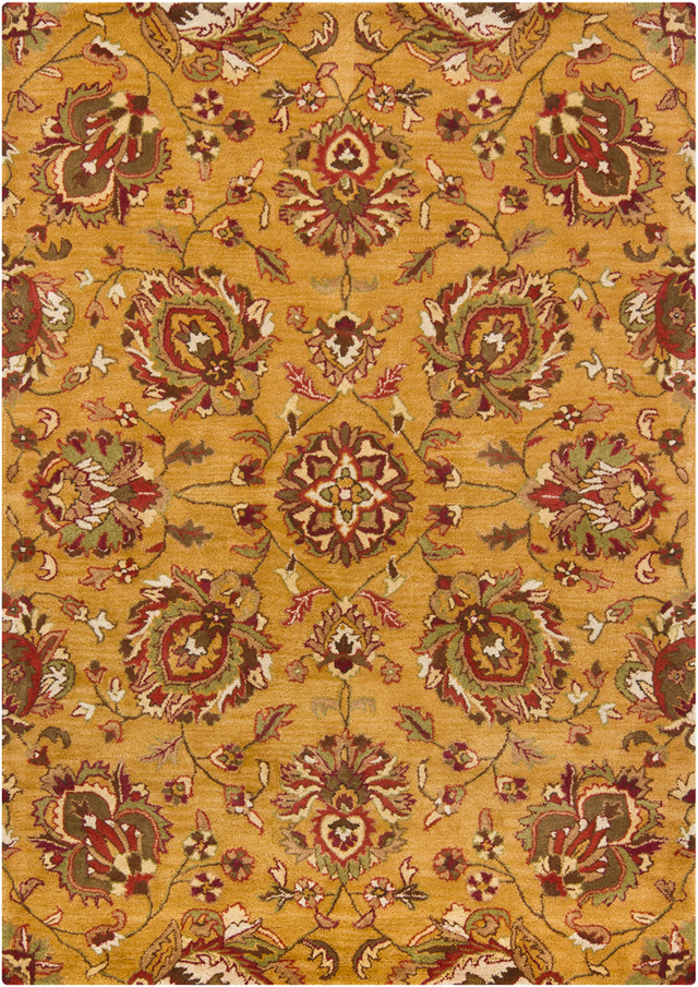 Orange Transitional Wool Rugs 7 X 10 Online For Sale